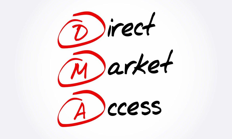 Direct Market Access acronym, business concept background