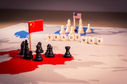 U.S.-China Trade War: trade war concept.