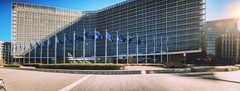 European: European Commission Headquarters building.