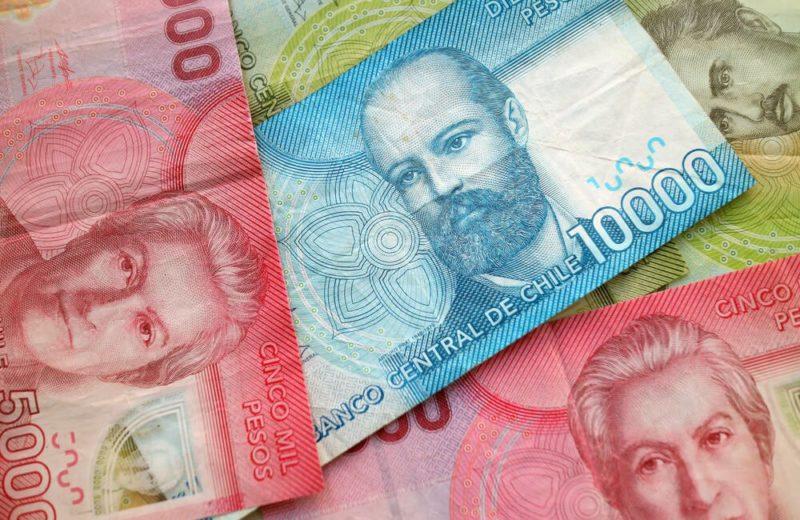 American: Chilean peso cash banknote.
