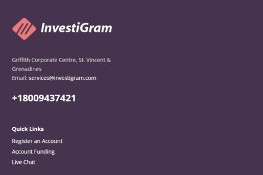 InvestiGram Customer Service