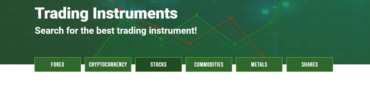 FxCryptoClub Trading Instruments