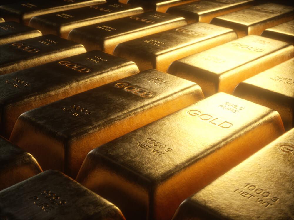 Gold bars photo.