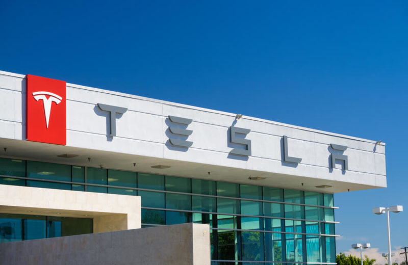 Tesla company sign