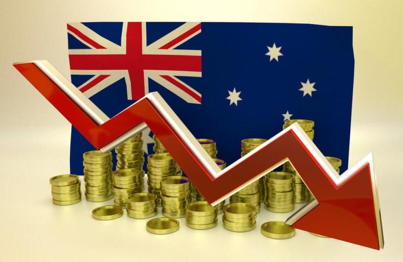 3D finance graph - currency collapse - Australian dollar