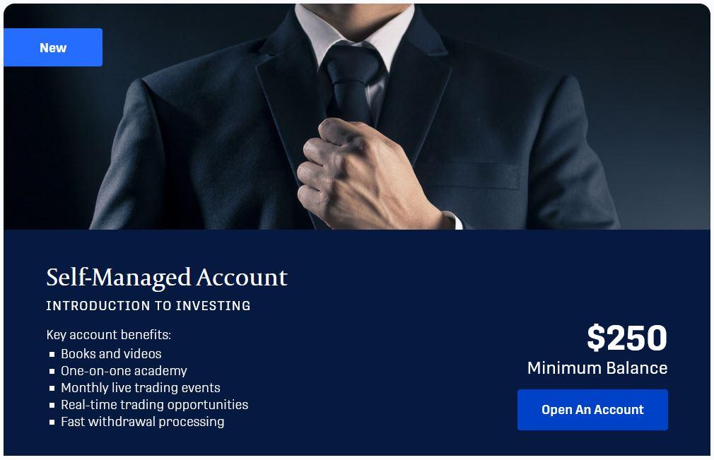 self mannaged account