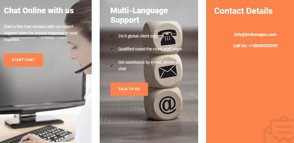 brokeragea customer support