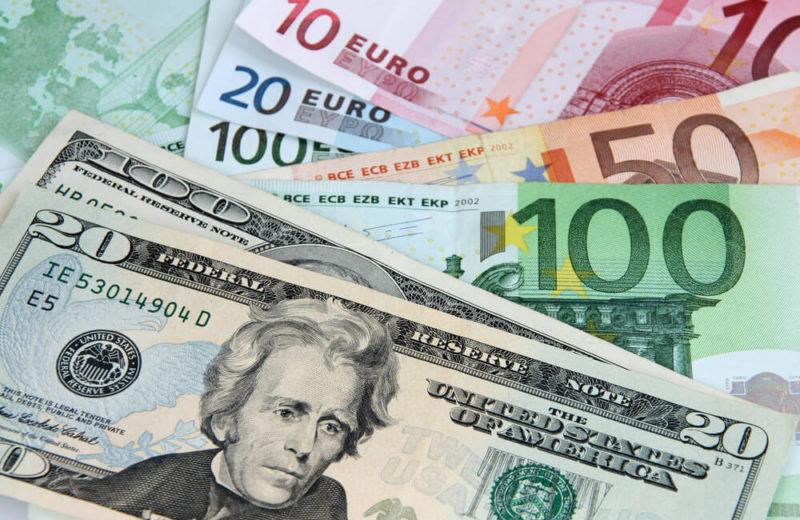 euro and dollar bills